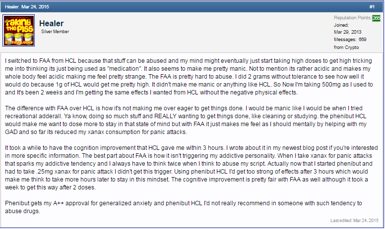Why FAA may be better than HCl